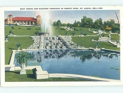 Unused Linen PARK SCENE St. Louis Missouri MO hk6452