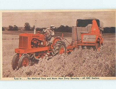 1954 Postcard Ad ALLIS CHAMBERS FORAGE HARVESTER TRACTOR Milwaukee WI HM4545