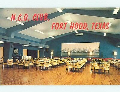 Unused Pre-1980 Military FORT HOOD NCO CLUB Killeen Texas TX hn3530-16