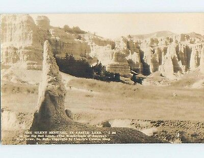 Pre-1949 rppc SILENT SENTINEL IN BADLANDS Rapid City South Dakota SD HM3323