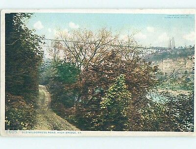 Unused Divided-Back OLD WILDERNESS ROAD High Bridge Kentucky KY HM8297