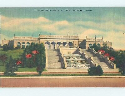 Unused Linen PARK SCENE Cincinnati Ohio OH hk6323