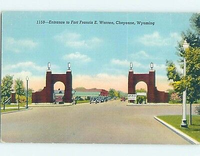 Unused Linen POSTCARD FROM Cheyenne Wyoming WY HM9240