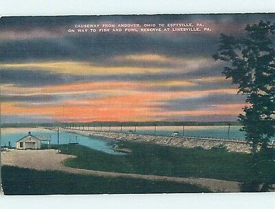 Linen POSTCARD FROM Espyville In North Shenango Township Pennsylvania PA HM9103