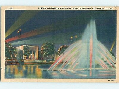 Linen TEXAS CENTENNIAL Dallas Texas TX hn0188