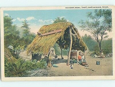 Unused W-Border MEXICAN HUT San Antonio Texas TX HM8094
