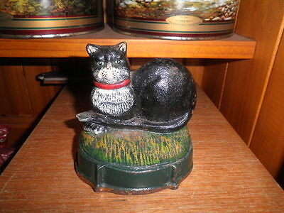 vintage cast iron black cat