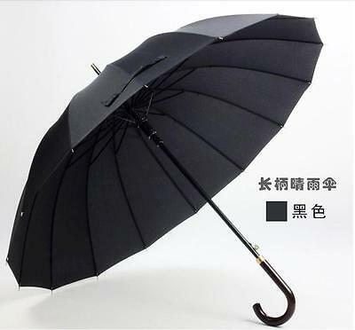 16K Strong Mens umbrella windproof Auto Open Rain Long handle business umbrella