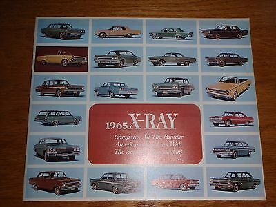 1965 RAMBLER Brochure X-RAY NOS new unused Compares All Models 47 pages