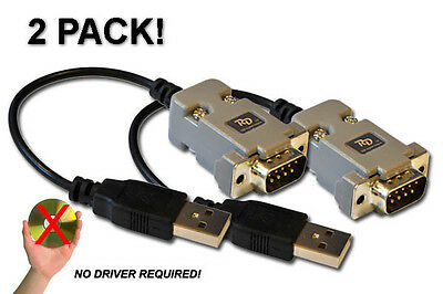 Universal DB9 to USB joystick adapter 2-PACK!