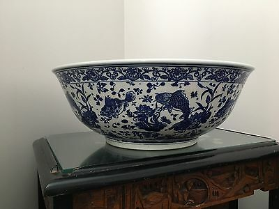Antique Porcelain China Large Bowl