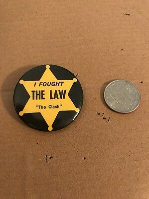 I Fought The Law The Clash Pin Vintage