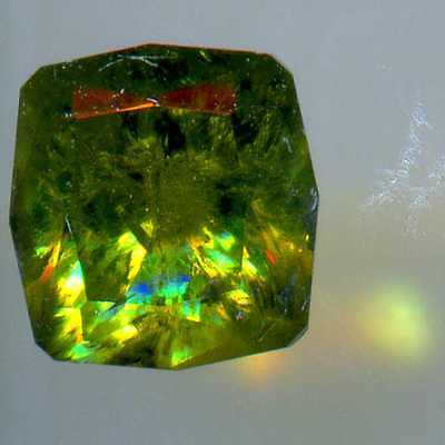 DEMANTOID URAL 1.57CT with the usual 'tail'