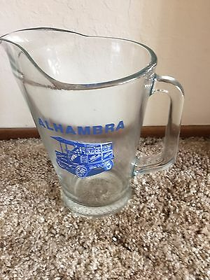 Alhambra Water Glass Pitcher With A Picture  Of Old Alhambra Truck Weight 6#