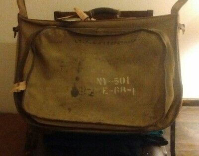 World War 2 Type B-4 Garment Bag,named To Decorated Air Corps Pilot!!!