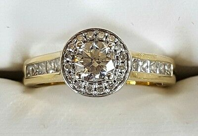 Genuine 100% 18Ct Solid Yellow Gold 1.00Ct Diamond Engagement Ring