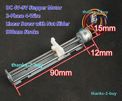 DC 5V 2-phase 4-wire Stepper Motor Linear Screw Nut Slider DIY Laser Engraving