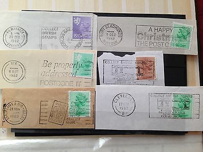 UK stamp lot 1, 1982/3 stamps with franks