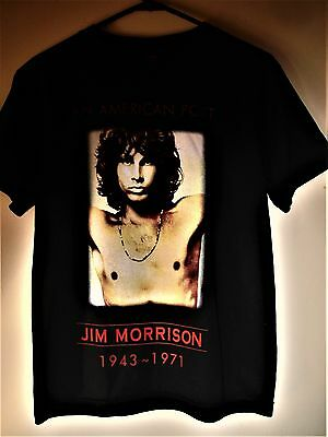 JIm Morrison American Poet Black T-Shirt Size Small