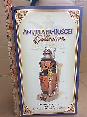 Budweiser CS596 Athens Olympic Games Premier Olympic Stein Large Premier Stein