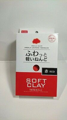 DAISO JAPAN Red Soft Clay Made in Japan Arcilla Suave F/S Ship to Worldwide