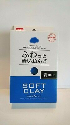 DAISO JAPAN Blue Soft Clay Made in Japan Arcilla Suave F/S Ship to Worldwide
