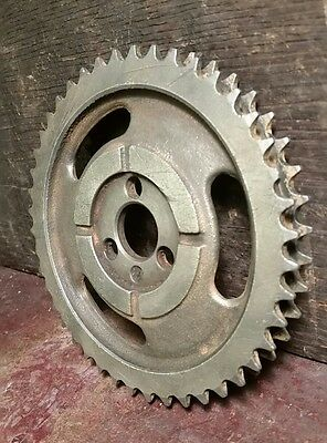 """5.5"""" Double Tooth Gear Pulley Wheel Steampunk Industrial Art Parts Lampbase"""