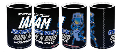 New South Wales State of Origin I Am Born N Bred Stubby Holder