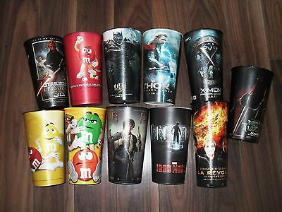 Cinema Movie Theater Exclusive Promotional Plastic Cup Lot of 11