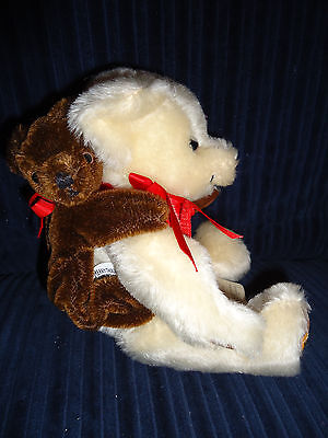 """VERY RARE Merrythought Mohair Bear Jointed 10"""" TEDDY BABY BACKPACK OLIVER HOLMES"""