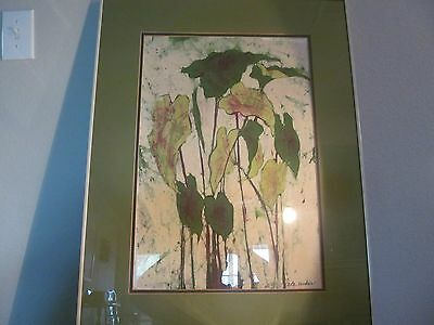 Vintage Abstract Hand Painted Silk Painting! Signed!