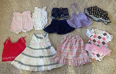 Size 0 Mixed Lot Of Girls Summer Clothes - 10 Items