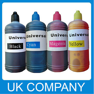 4 X 100ml Universal Printer Refill Ink Bottle for CISS or Refillable Cartridges