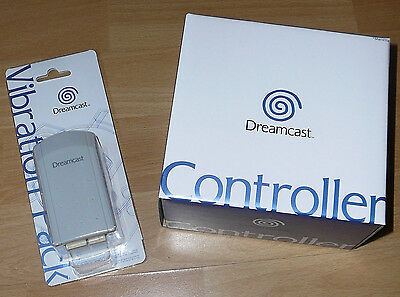 Sega Dreamcast CONTROLLER & Vibration Jump Pack New Original in Box Never Opened