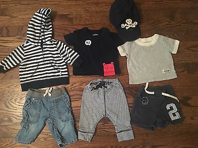 Set Lot 12 Baby Boy Clothing Clothes Shirts One Piece Tops Shorts Gap 0-3 months