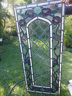 Vintage leadlight panel window stained glass