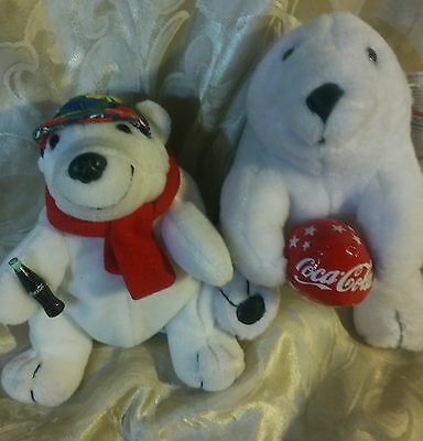 COCA COLA BEARS PLUSH PAIR-Free Shipping