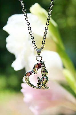 Cremation Jewelry Ashes Pendant Urn NECKLACE Cat Heart Kitty Pet Memorial Gift