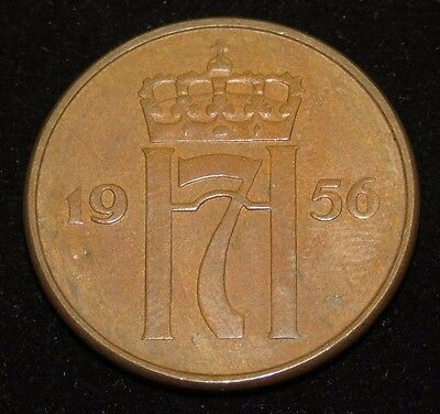 1956 Norway 5 Ore Coin Lot 13S