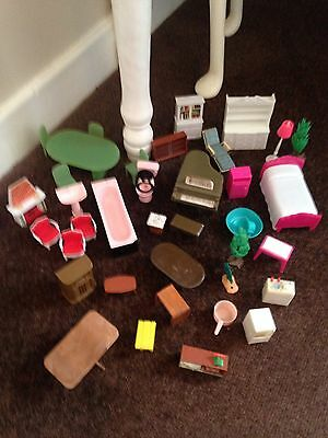 vintage dolls house furniture Mixed Lot