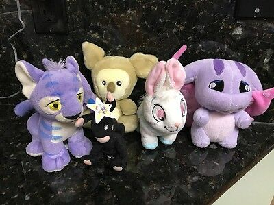 Neopets Plush Toy Mixed Lot Of 5