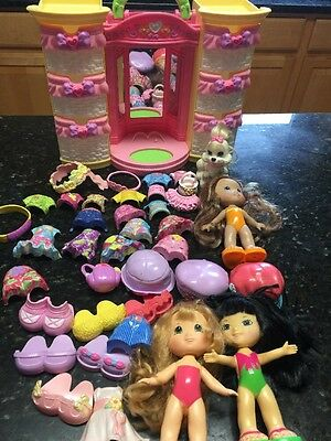 fisher price snap n style lot of 34 pieces Plus  Doll Clothes And Dog Playset