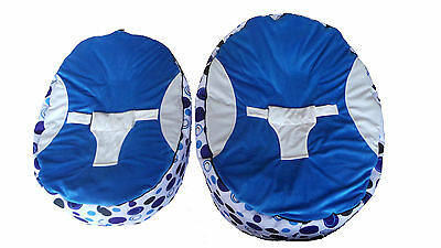 Extra Large Baby Bean Bag with 2 Removable covers & Safety Harness- UK Seller