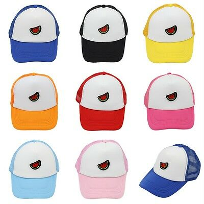 Kids Baseball Cap Trucker Hat Watermelon Pattern Children Mesh Caps Adjustable