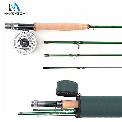 Fly Fishing Combo 3/4/5/6/7/8/9WT Fast Action Carbon Fly Rod, Aluminum Fly Reel