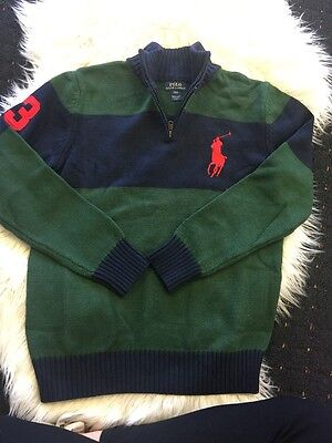 New Young Boy Ralph Lauren Knitted Jumper Size L(14-16)