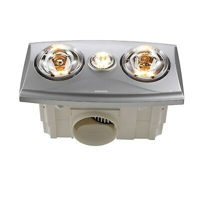 Heller Silver LED 3 in 1 Bathroom Heater LRBH2RYAN-S