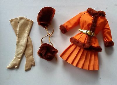 Vintage BARBIE #1486 *WINTER WOW* Komplett! MOD Fashion HTF Golden Boots 60/70er