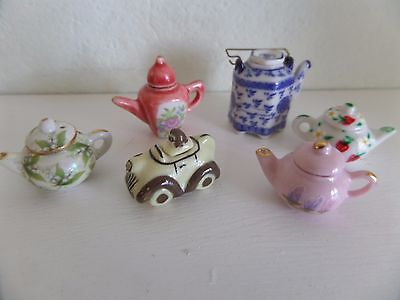 12th  scale collection of teapots dolls house