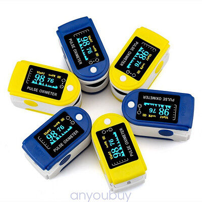 Portable Fingertip Pulse Oximeter Blood Oxygen Saturation Heart Rate Monitor